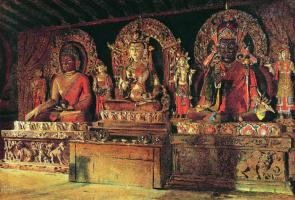 Василий Васильевич Верещагин. Три главных божества в буддийском монастыре Чингачелинг в Сиккиме