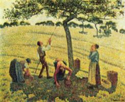 Камиль Писсарро. Сбор яблок в Эраньи
