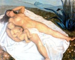 Антонио Бискуерт. Сон матери с ребенком