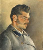 Елена Андреевна Киселева. Портрет брата. Этюд 1890-е  37 х 31,5