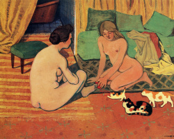 Felix Vallotton. Nude with cats