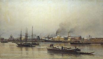 Neva Embankment. 1876