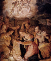 Giorgio Vasari. The adoration of the shepherds