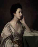 George Romney. Portrait of Mrs. John Gatorn in a silver dress