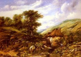 Фридрих Вильгельм Уоттс. Мельница в лесистой долине