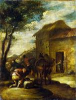 Антонио дель Кастильо. Навьючивание мулов