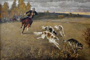 Владимир Сергеевич Первунинский. В полях осенних.