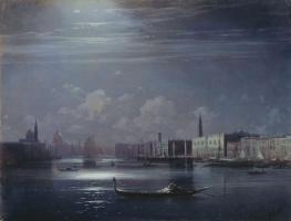 Ivan Aivazovsky. Night landscape. Venice