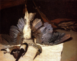 Alfred Sisley. Still life with Heron