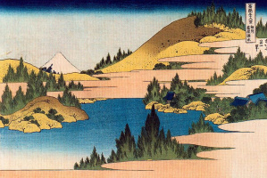 Кацусика Хокусай. Хаконэ-Лейк в провинции Сосю