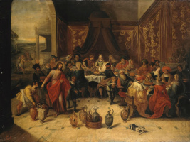Frans Franken the Younger. Marriage in Cana of Galilee. 1630s