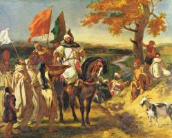 Эжен Делакруа. Марокканский шейх навещает свой клан