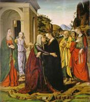 Джованни Санти. Встреча Марии и Елизаветы