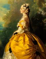 Франц Ксавер Винтерхальтер. Императрица Евгения (Эжени де Монтижу) в наряде XVIII века. Фрагмент