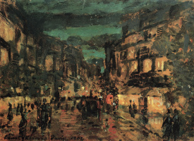 Константин Алексеевич Коровин. Ночная улица. Париж