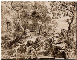 Peter Paul Rubens. The flight into Egypt, the second state