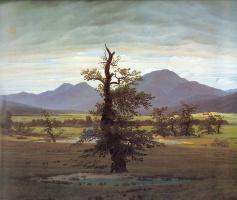 Каспар Давид Фридрих. Пейзаж с одиноким деревом