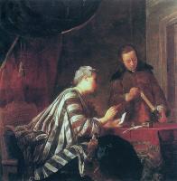 Жан Батист Симеон Шарден. Женщина, запечатывающая письмо