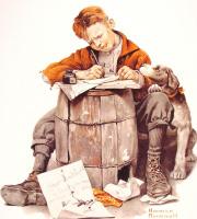 Норман Роквелл. Маленький мальчик пишет письмо