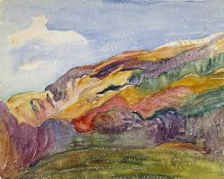 Джованни Джакометти. Пейзаж в Бержеле