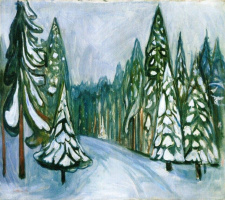 Эдвард Мунк. Новый снег
