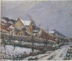 Гюстав Луазо. Деревня в снегу