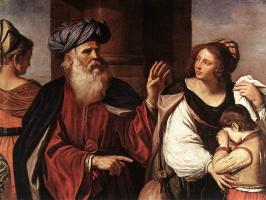 Джованни Франческо Гверчино. Авраам изгоняет Агарь и Измаила