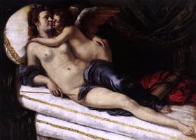 Артемизия Джентилески. Венера и Купидон