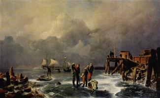 Андреас Ахенбах. Белые паруса
