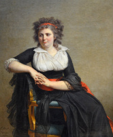 Jacques-Louis David. Portrait of the Marquise d'orville, one of two sisters of the Geneva banker Jacques Rilliet