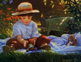 Донна Грин. Ребенок в шляпе