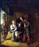 Питер де Хох. Служанка и солдат