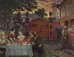 Boris Kustodiev. The tea party