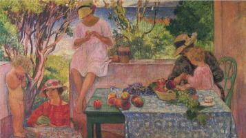Henri Lebasque. Lunch on the terrace