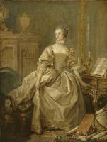 Франсуа Буше. Мадам де Помпадур с рукой на клавиатуре клавесина
