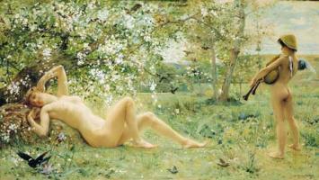 Luc Olivier Merson. Spring awakening