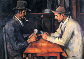 Paul Cezanne. The card players