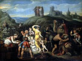 Симон де Вос. Израильтяне после перехода через Чермное море
