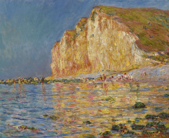 Claude Monet. Low tide in Le Petit Dahl
