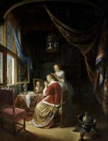 Герард Доу. Молодая дама за туалетом