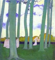 Морис Дени. Пейзаж с зелеными деревьями