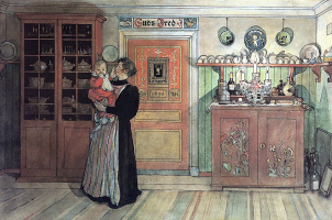 Carl Larsson. Between Christmas and New year