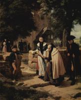 Фридрих Эдуард Майерхайм. Брауншвейгские крестьяне во время посещения церкви