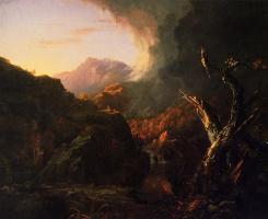 Томас Коул. Пейзаж с засохшим деревом