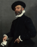 Джованни Баттиста Морони. Портрет человека, держащего письмо