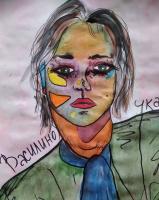 Василина Романовна Орлова. Ночь в парадной (автопортрет)
