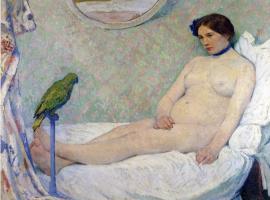 Бернхард Кутманн. Девушка на кровати
