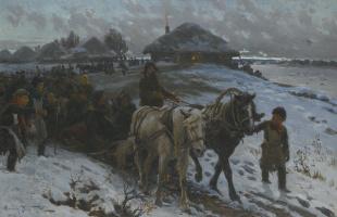 Александр Владимирович Маковский. Отправление на охоту