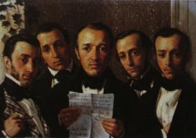Михаил Иванович Скотти. «Пять братьев Бенуа» 1847