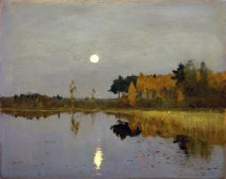 Isaac Levitan. Twilight. The moon